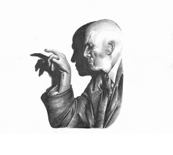 Aleister Crowley by Lampert